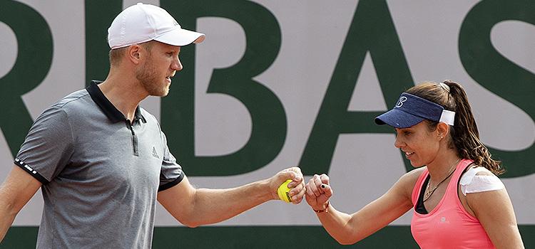 Imagini de la meciul Mihaela Buzarnescu, Dominic Inglot - Darija Jurak, Austin Krajicek