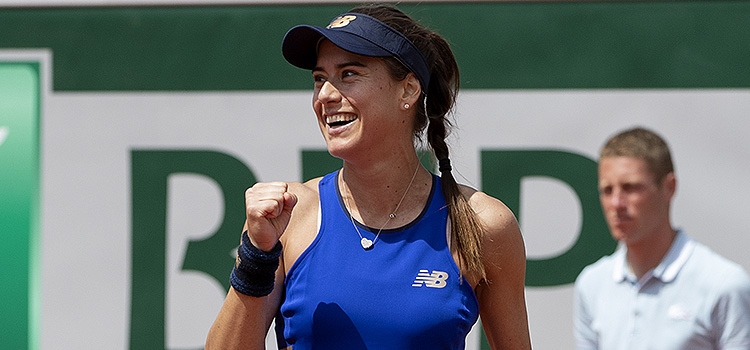 Imagini de la meciul Sorana-Mihaela Cîrstea - Kaja Juvan, din turul 1 la French Open