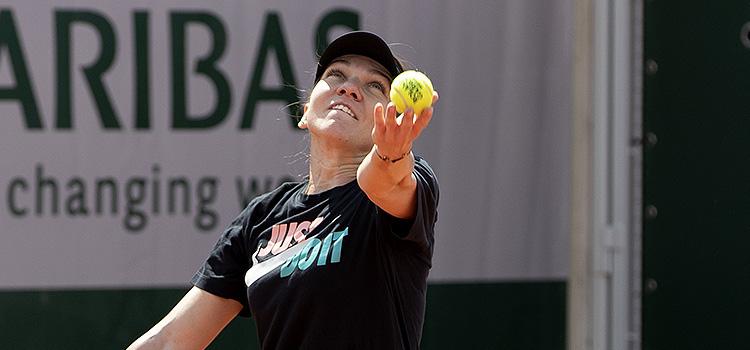 Imagini de la antrenamentul de luni al Simonei Halep la Roland Garros