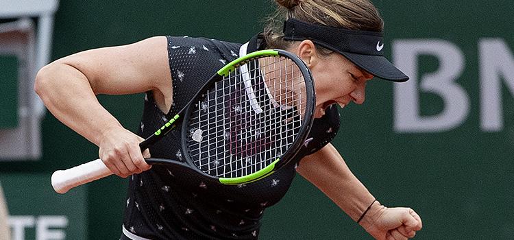 Imagini de la meciul Simona Halep - Magda Linette