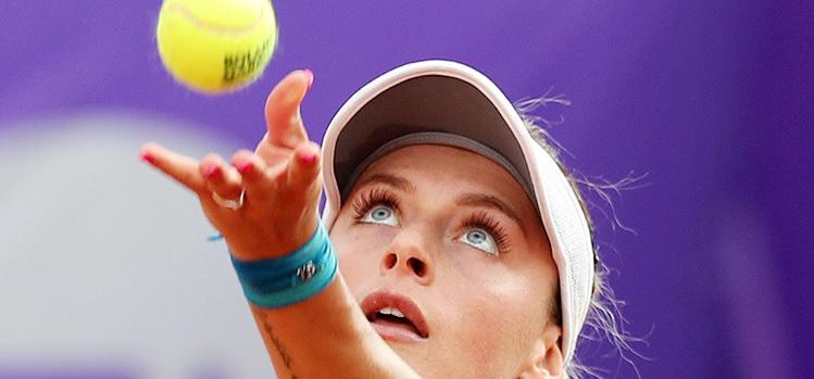 Imagini de la meciul Ana Bogdan - Anastasija Sevastova din turul 1