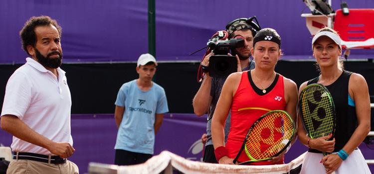 Imagini de la meciul Ana Bogdan - Anastasija Sevastova