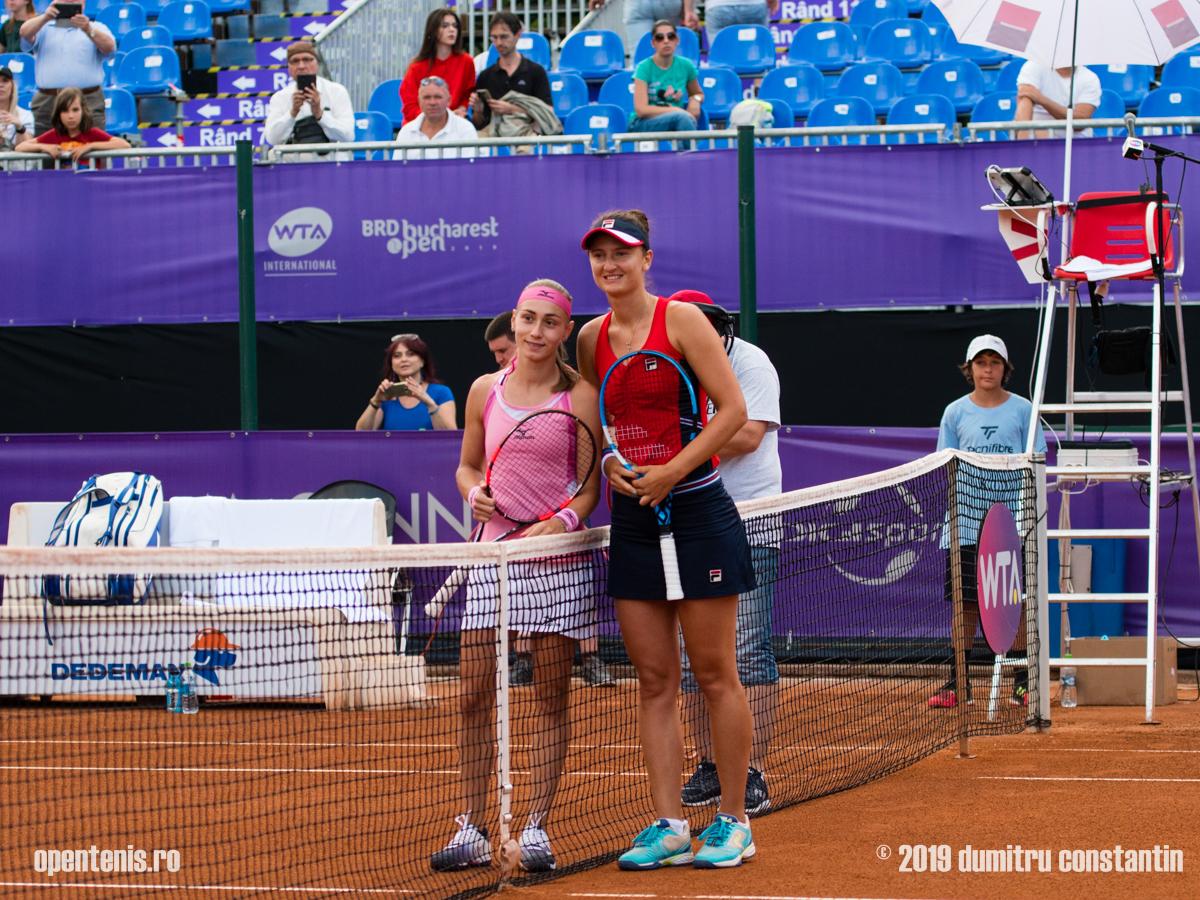 Imagini de la meciul Irina Camelia Begu - Aleksandra Krunić