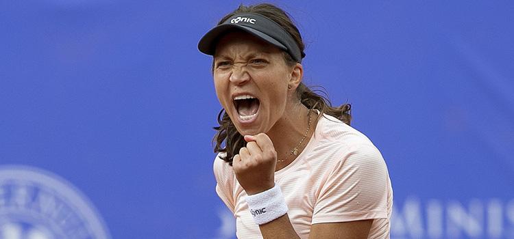 Imagini de la prima parte a meciului Patricia Maria Tig - Marina Melnikova