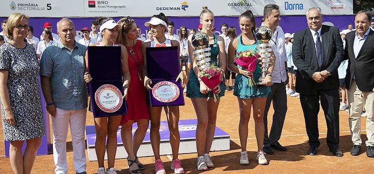 Imagini de la finala de dublu de la BRD Bucharest Open 2019